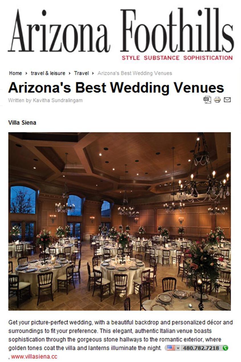 Arizona Foothills Best Wedding Venues 2010