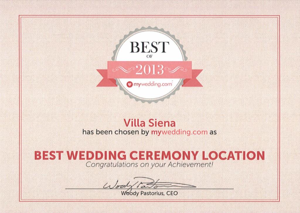 Best Of 2013 Best Wedding Ceremony Location