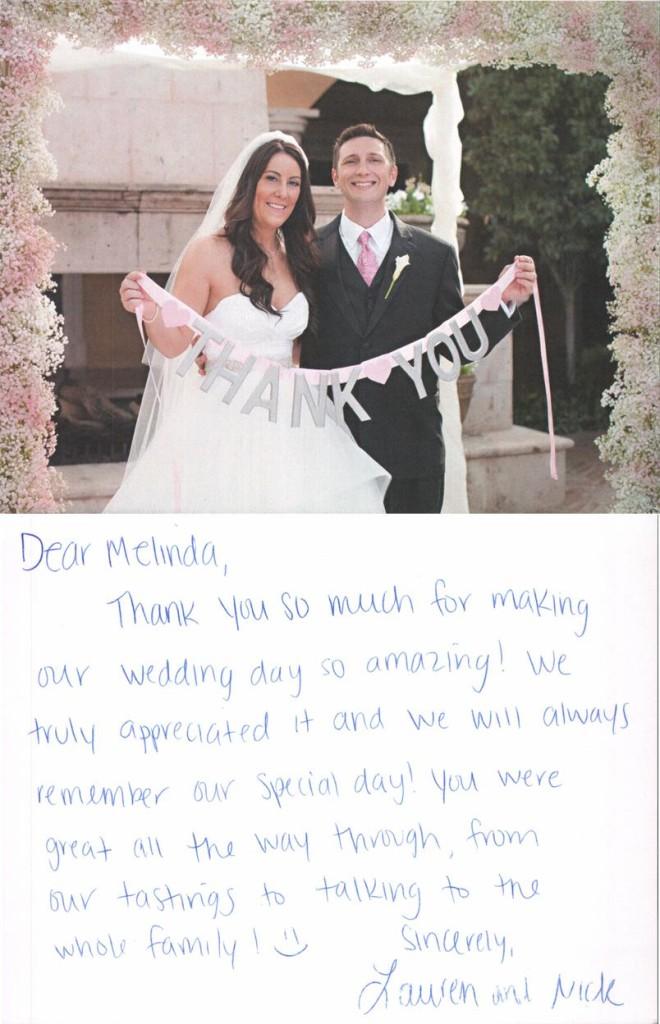 Lauren & Nick thank you