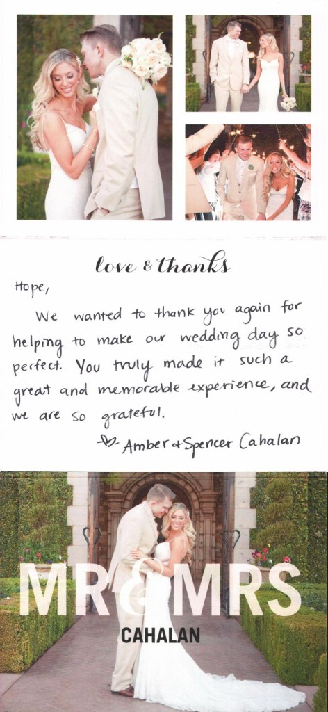 Amber & Spencer Thank You