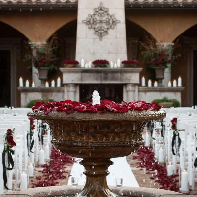 Red Rose Garden Wedding Ceremony