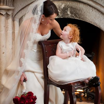 Special Moment With Flowergirl