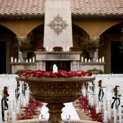 Classic Red Rose Petals for a Romantic Outdoor Ceremony