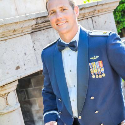 Groom in Air Force Dress Blues