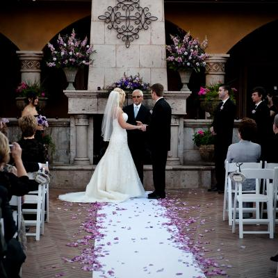 Purple Spring Courtyard Ceremony