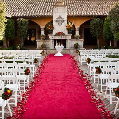 Outdoor Fall Wedding Ceremony
