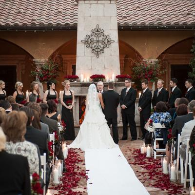 Tuscan Garden Wedding Ceremony