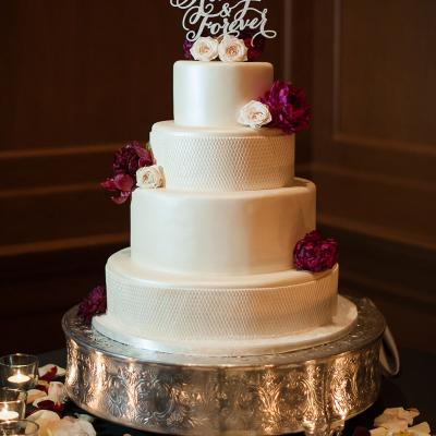 Four Tier Wedding Cake with Floral