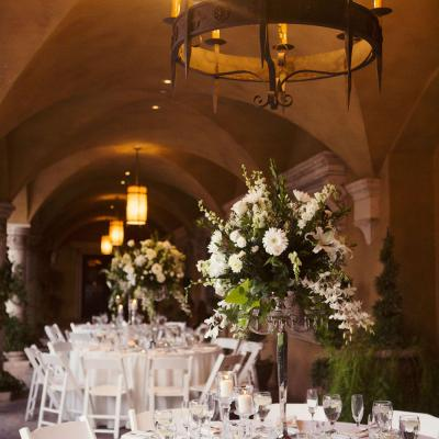 Arizona Outdoor Reception with Chandeliers
