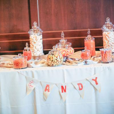 Color Themed Wedding Candy Bar
