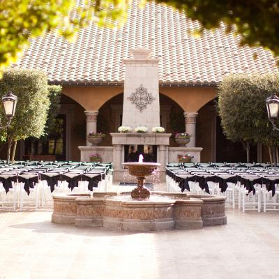 Tuscan Courtyard Wedding Ceremony