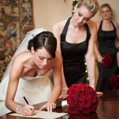 Signing the Arizona Marriage License