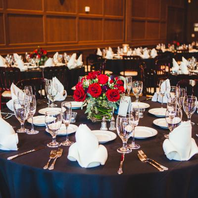 Red, White, and Black Classic Tablescape