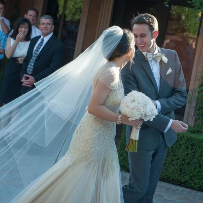 Cathedral Veil Wedding Recessional