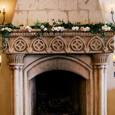 Floral Garland for Ceremony Mantle Decor