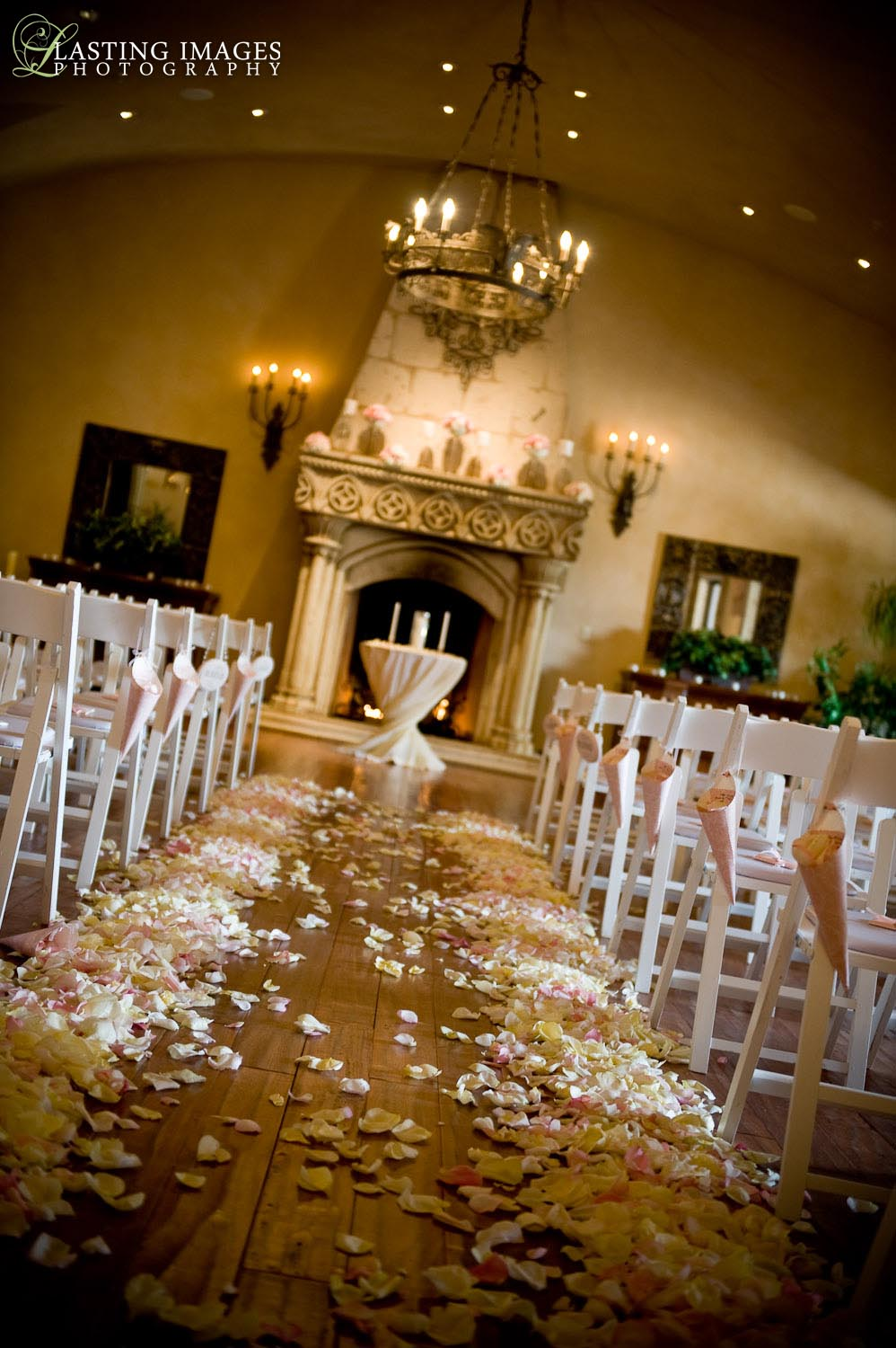Ceremony villa siena pink vintage indoor arizona wedding junglespirit